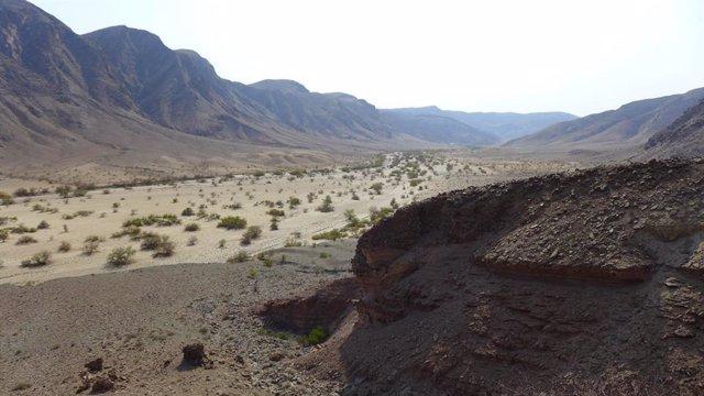 Valle glaciar que acabó ocupado por el mar en el actual interior de Namibia