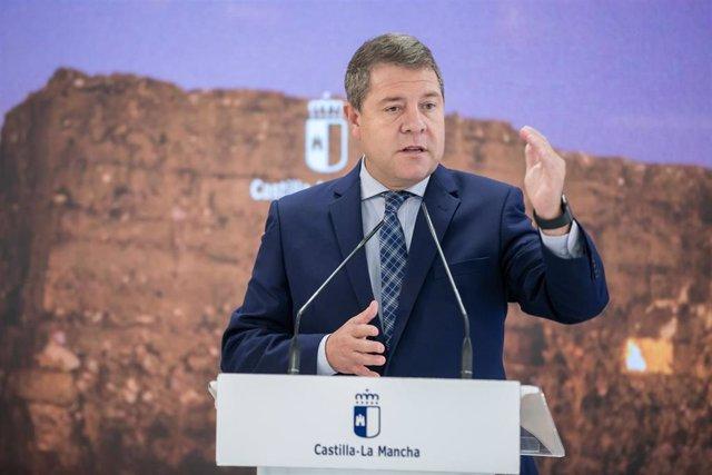 El presidente de Castilla-La Mancha, Emiliano García-Page, preside el Consejo de Gobierno itinerante que en esta ocasión se celebra en Seseña (Toledo)