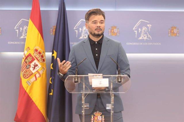 El portaveu parlamentari de l'ERC, Gabriel Rufián