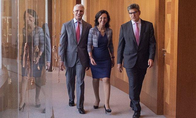 Archivo - Ana Botín, Andrea Orcel y Álvarez