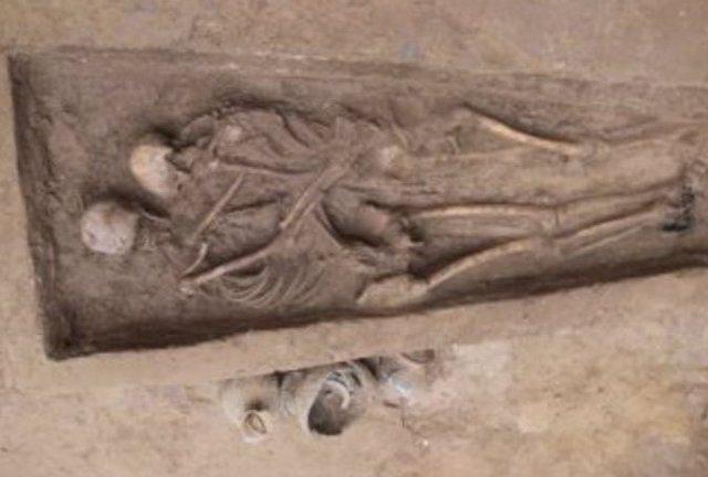 Esqueletos encontrados enterrados en el norte de China
