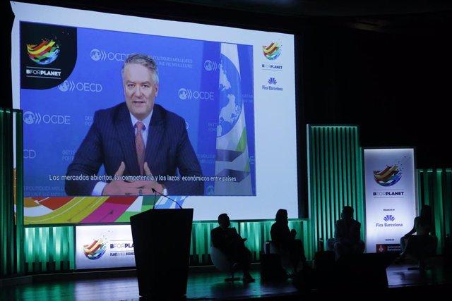 Archivo - El secretario general de la OCDE, Mathias Cormann, en la inauguración del salón BforPlanet, en la Fira de Barcelona, a 7 de julio de 2021, en Barcelona, Catalunya (España). La primera edición de BforPlanet reúne este miércoles y jueves a 40 empr