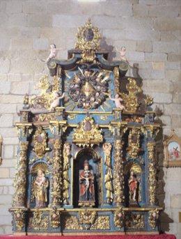 Retablo de San Antonio de Padua de Ceclavín tras su restauración