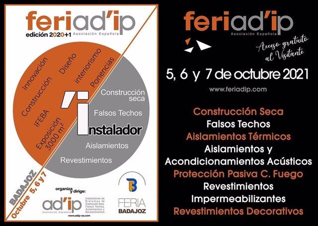 FERIAD'ip, Días 5, 6 Y 7 De Octubre En IFEBA - BADAJOZ