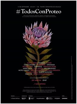 Más de 20 bandas y artistas malagueños actuarán en el concierto benéfico #TodosconProteo
