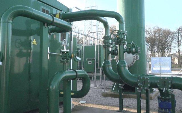 Instalación de mezcla de gas con hidrógeno