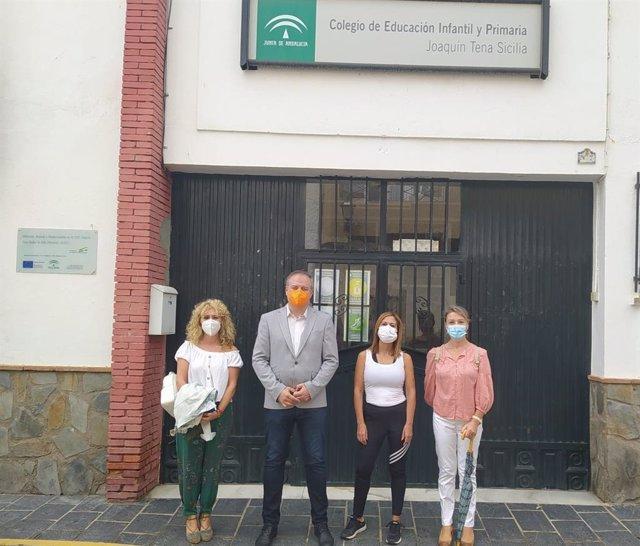 El delegado de Administración Local de Almería, José Luis Delgado, visita Abla.