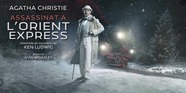 Cartell de l'adaptació teatral d''Assassinat a l'Orient Express'