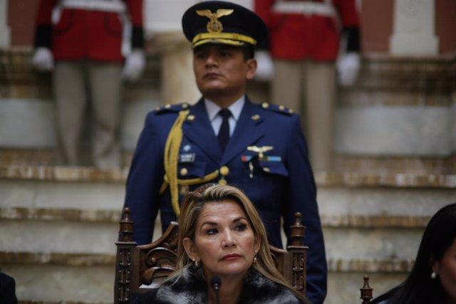 Archivo - Jeanine Áñez