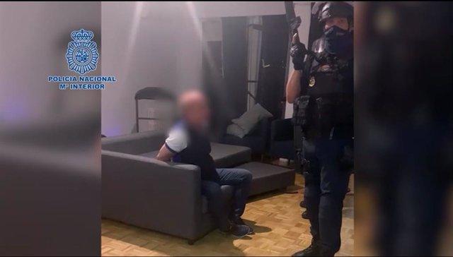 Imagen de la detención de Hugo Carvajal