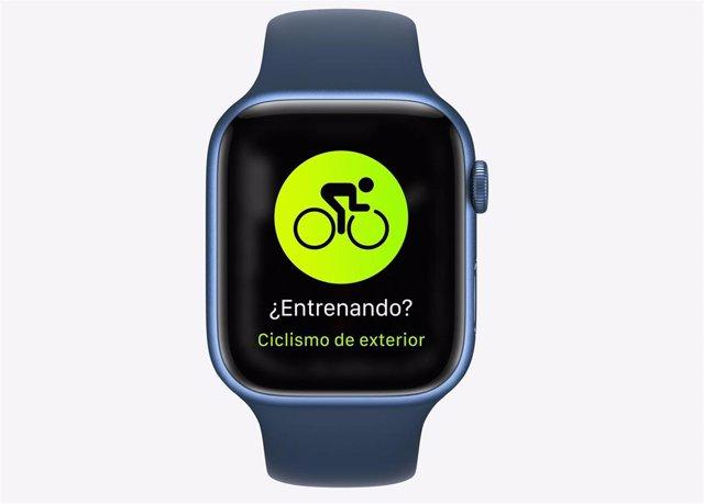 Apple Watch Series 7 con funciones para ciclistas