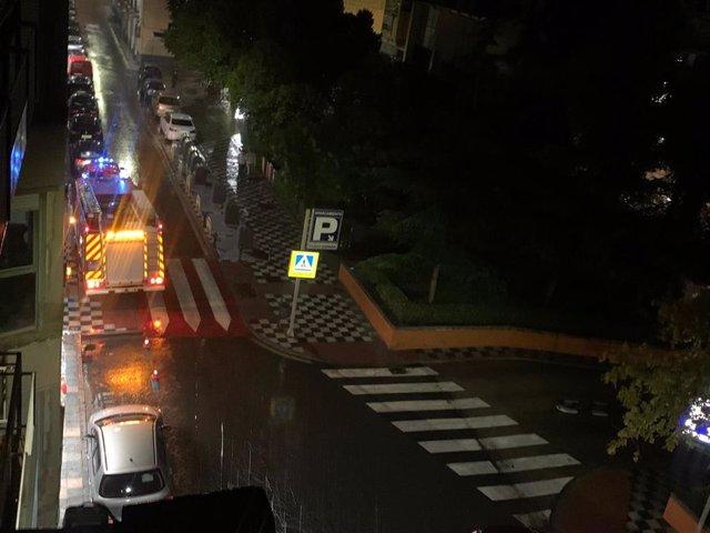 Actuaciones de bomberos en Cuenca tras las lluvias torrenciales