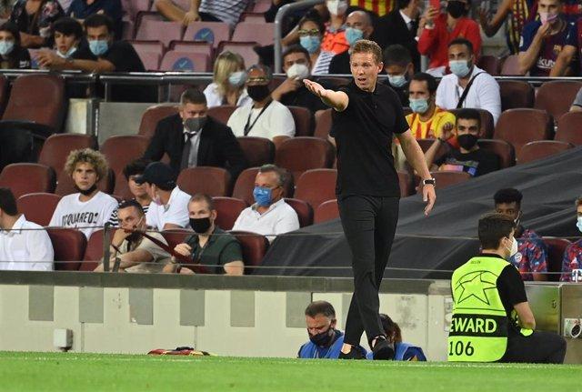 El entrenador del Bayern Múnich, Julian Nagelsmann