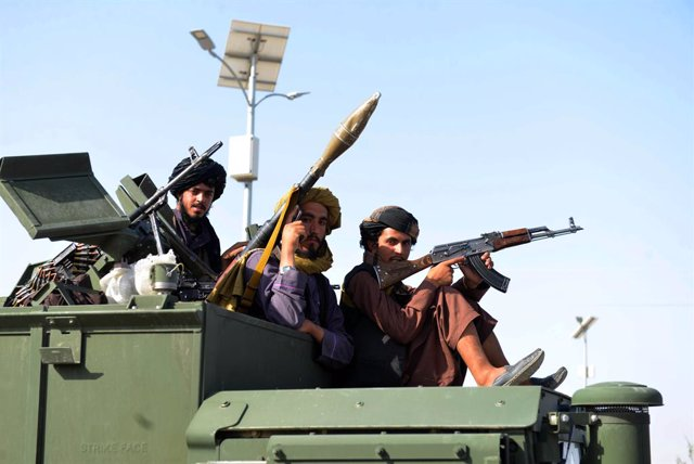 Milicianos talibán en Kandahar
