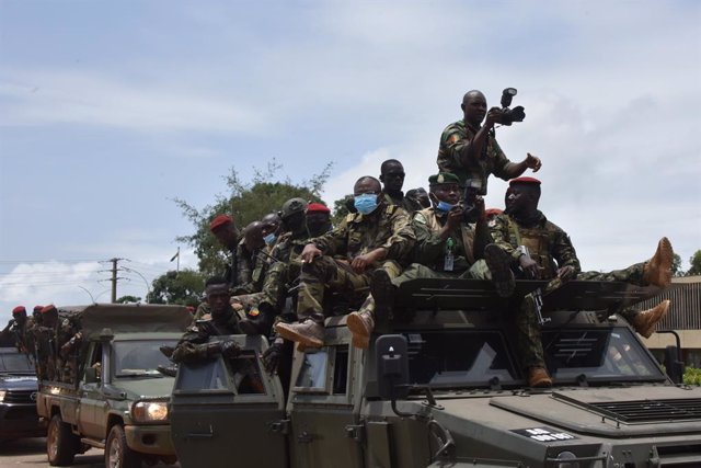 Imagen de archivo de miembros de las fuerzas guineanas durante el golpe de Estado.