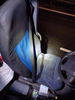 Imagen del interior del camión.