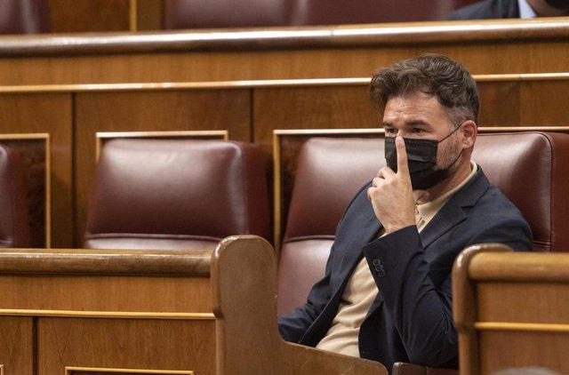 El portavoz parlamentario de la ERC, Gabriel Rufián.