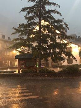 Lluvia en el Pirineo