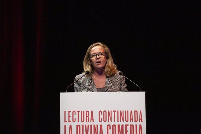 La vicepresidenta primera del Govern i ministra d'Assumptes Econòmics i Transformació Digital, Nadia Calviño, en imatge d'arxiu