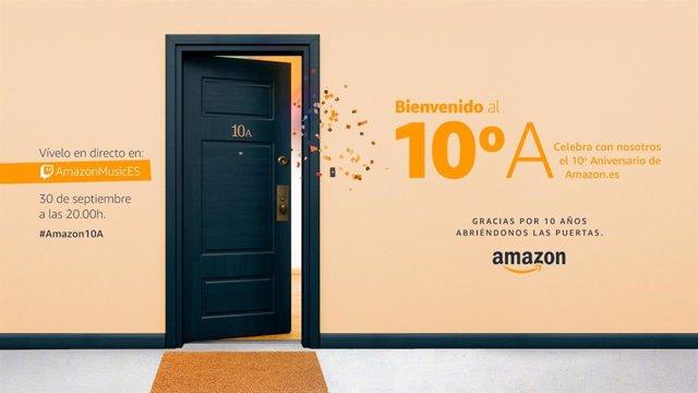 Evento por el décimo aniversario de Amazon en España