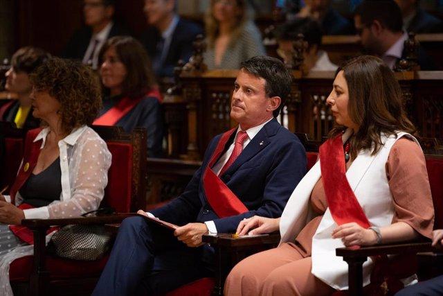 Archivo - Manuel Valls en la investidura de Ada Colau como alcaldesa tras los comicios de 2019. ARCHIVO.