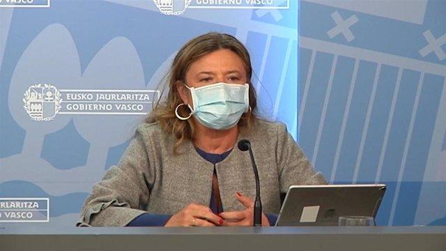 Archivo - La consejera de Salud, Gotzone Sagardui
