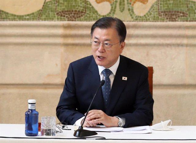Archivo - El presidente de Corea del Sur, Moon Jae In.