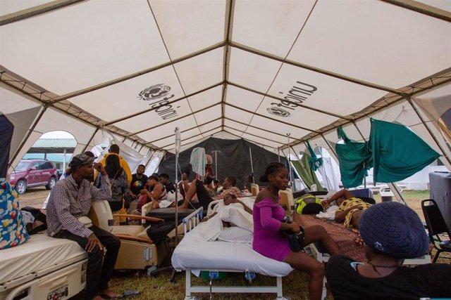Hospital de campaña de UNICEF en Les Cayes