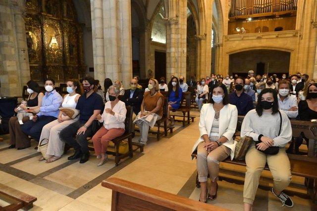 Misa en la catedral de Santander por el primer aniversario de la muerte de Vital Alsar
