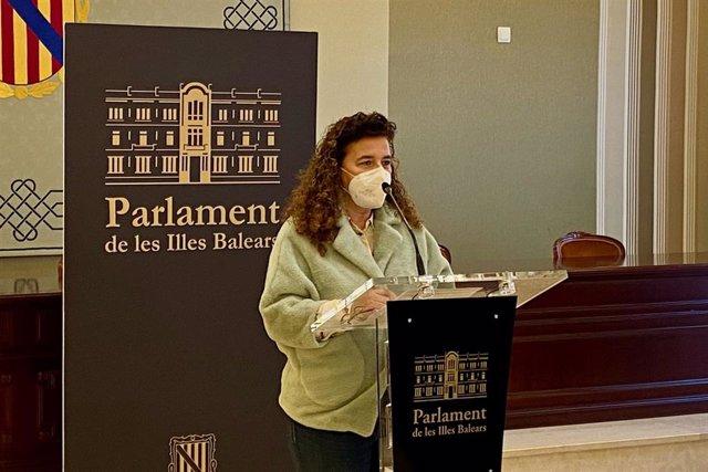 Archivo - La portavoz parlamentaria socialista, Pilar Costa.