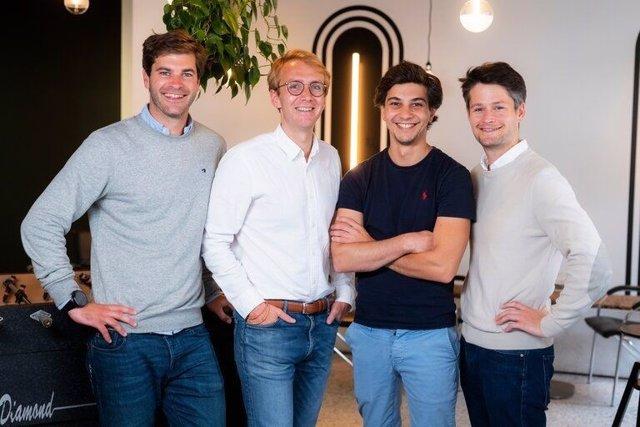 Fundadores de Sortlist. De izquierda a derecha - Charles De Groo