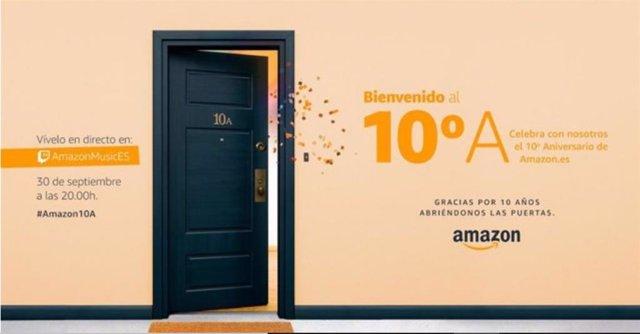 Amazon.Es celebra su décimo aniversario en nuestro país