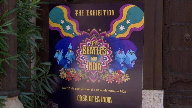 Cartel de la exposición 'The Beatles and India'.