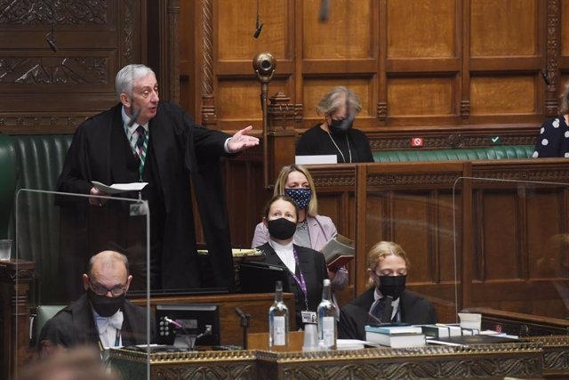 Archivo - HANDOUT - 07 July 2021, United Kingdom, London: UKSpeaker of the House Sir Lindsay Hoyle speaks during the Prime Minister's Questions in the House of Commons. Photo: Uk Parliament/Jessica Taylor/PA Media/dpa - ATTENTION: editorial use only and