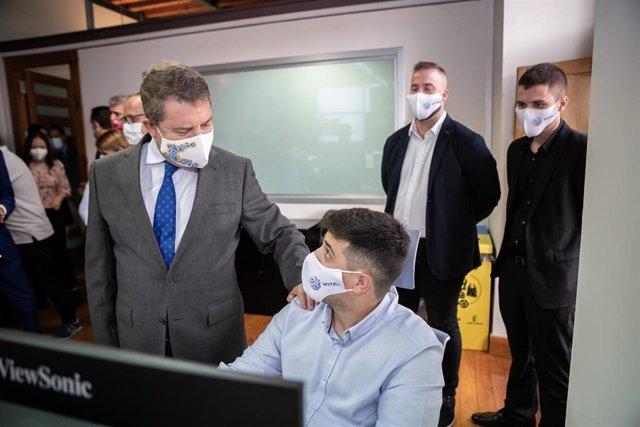 El presidente de Castilla-La Mancha, Emiliano García-Page, inaugura en Talavera de la Reina (Toledo) el Centro Regional de Innovación Digital (CRID)