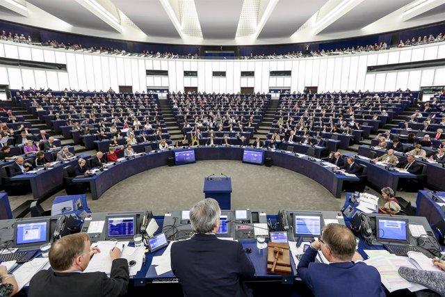 Archivo - Plen del Parlament Europeu a Estrasburg