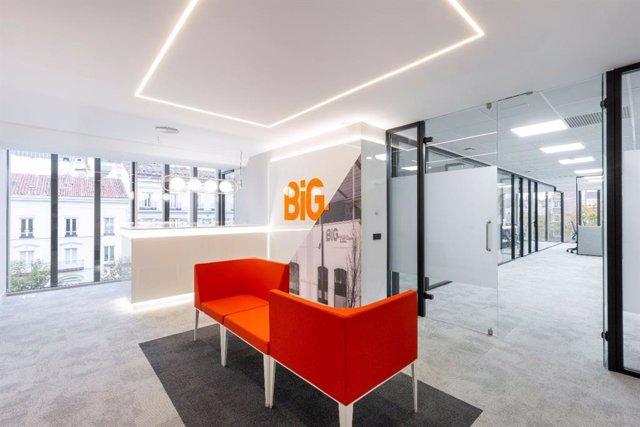 Archivo - Banco BiG (Banco de Inversión Global). Oficina en España en calle Serrano, 67, en Madrid.