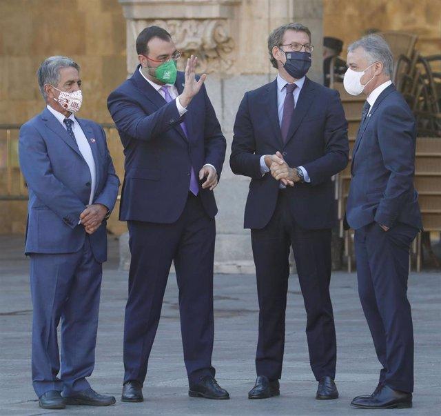 Archivo - El presidente Adrián Barbón participa en la Conferencia de Presidentes en Salamanca.