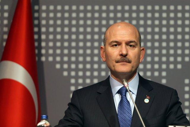 Archivo - El ministro del Interior turco, Suleyman Soylu
