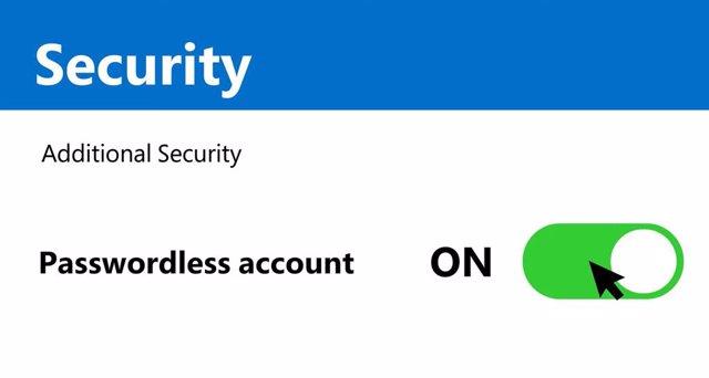 Cuenta de Microsoft sin contraseña