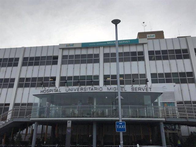 Archivo - Imagen frontal del hospital Miguel Servet