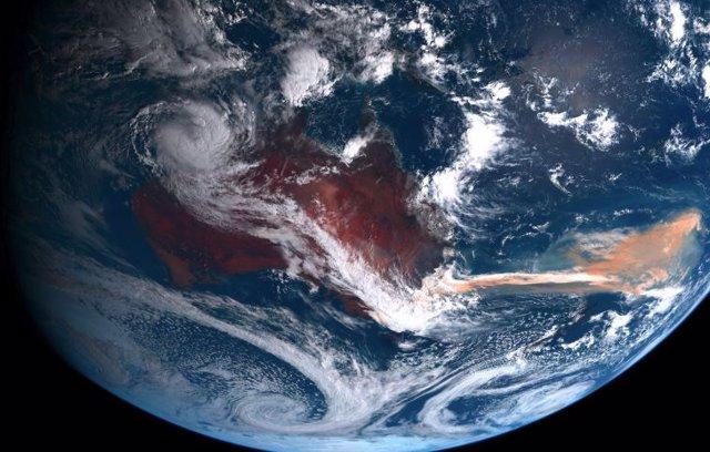 Humo de incendios en Australia se extiende por el océano austral
