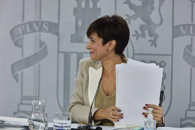 Arxiu - La ministra de Política Territorial i portaveu del Govern central, Isabel Rodríguez
