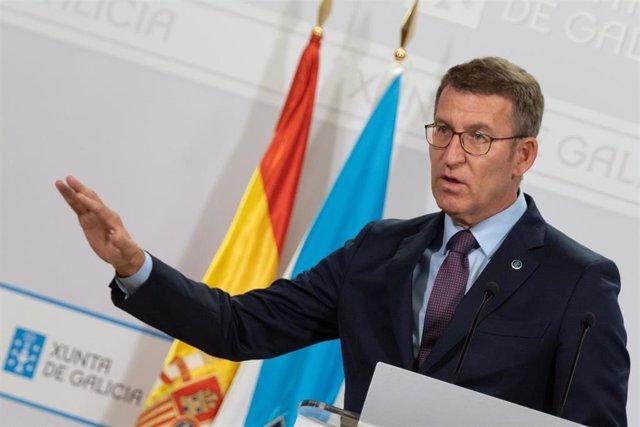 El titular del Gobierno gallego, Alberto Núñez Feijóo
