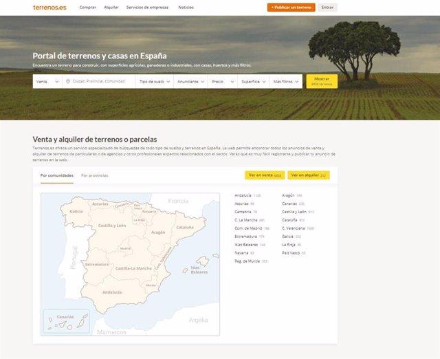 Portal de búsqueda online de terrenos, suelos y parcelas.