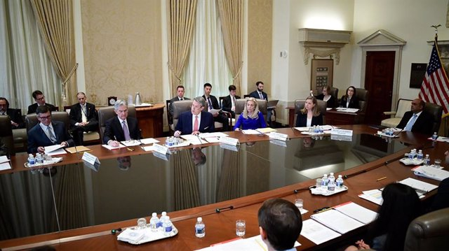 Archivo - El FOMC de la Fed, reunido el 08/04/2019.