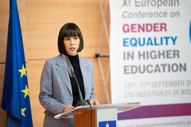 La ministra de Ciencia e Innovación, Diana Morant, durante la XI European Conference on Gender Equality in Higher Education, este miércoles 15 de septiembre