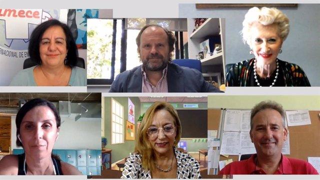 Webinar 'Segundo curso con pandemia en las aulas: experiencia previa, retos y objetivos'.