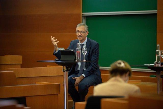 El governador del Banc d'Espanya, Pablo Hernández de Cos, aquest divendres a IESE