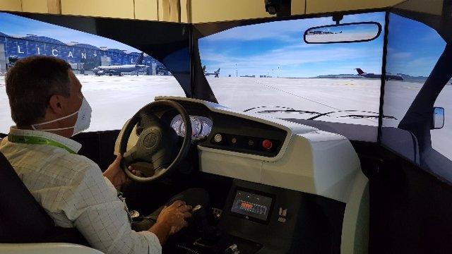 Simulador de conducció a l'àrea de maniobres d'aeronaus (SICAM)